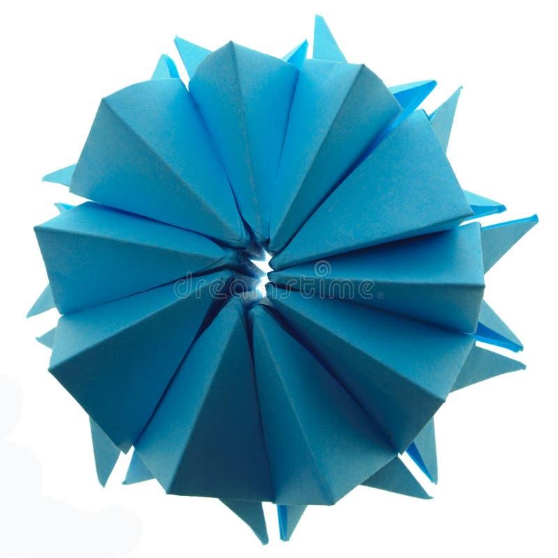 Origami snowflake royalty free stock photo