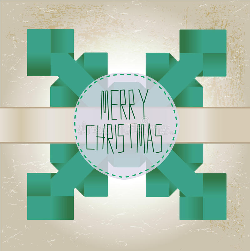 Download Origami Snowflake With Merry Christmas Text Stock Vector - Image: 27007091