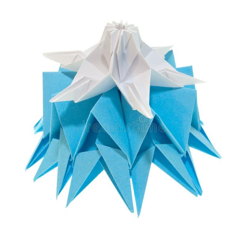 Origami snowflakes royalty free stock photo