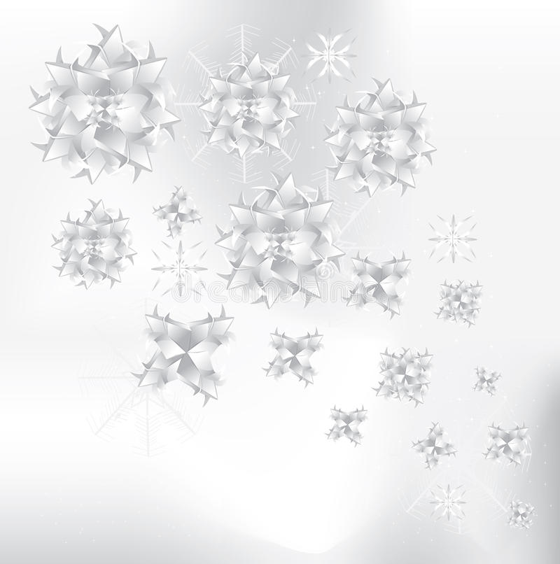 Origami Snowflakes Background Stock Images
