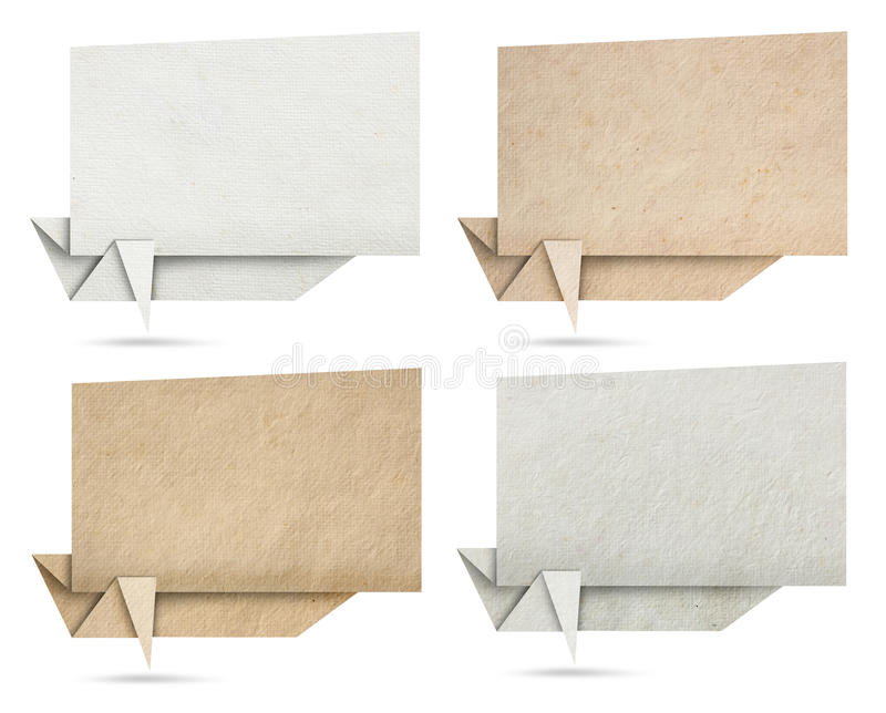 Download Origami Speech Banners Paper Texture Stock Image - Image: 26922485