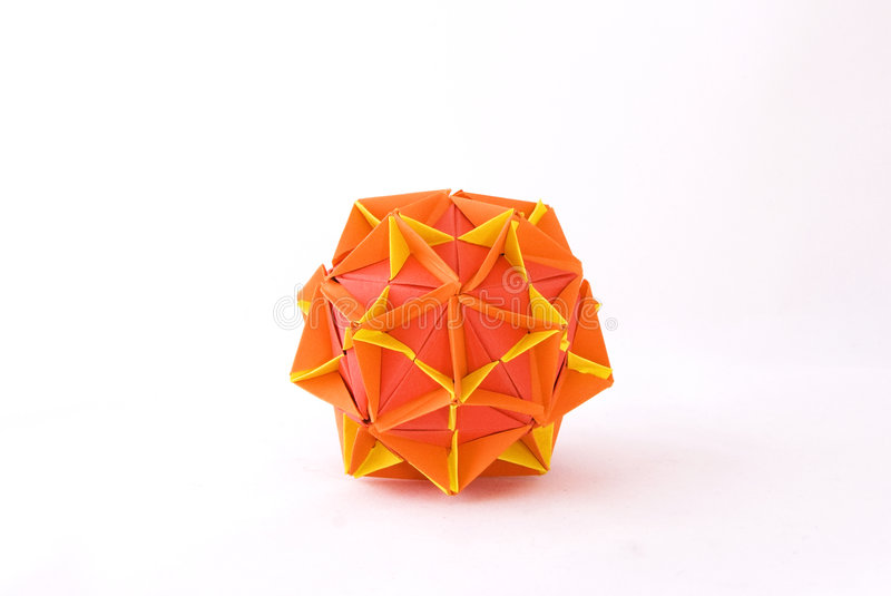 Origami star. Classic origami piece - It's a star stock photo