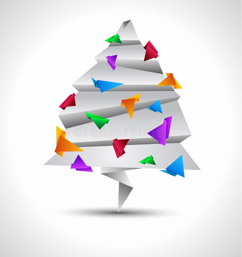 Download Origami Style Paper Christmas Tree Stock Illustration - Image: 20550190