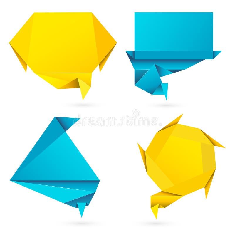 Origami Style Speech Bubble vector illustration
