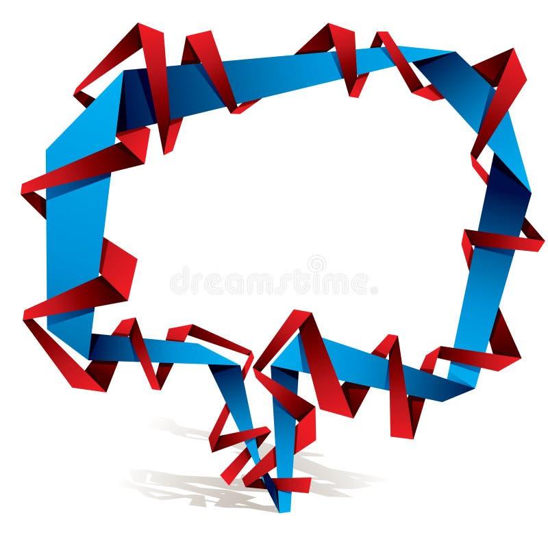 Origami style speech bubble. vector illustration