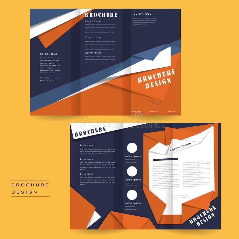Origami stylu broszurka ilustracji