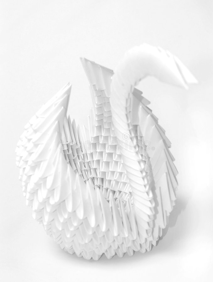 Download Origami swan stock photo. Image of duck, monochromatic - 2394848
