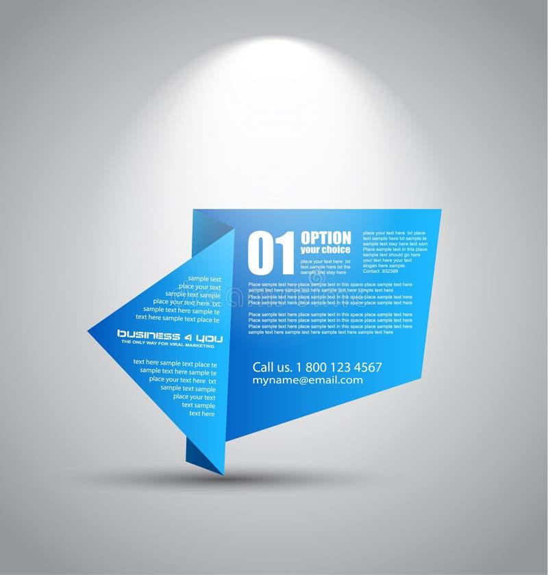 Origami tapeziert Artplatte mit Raum für Text vektor abbildung