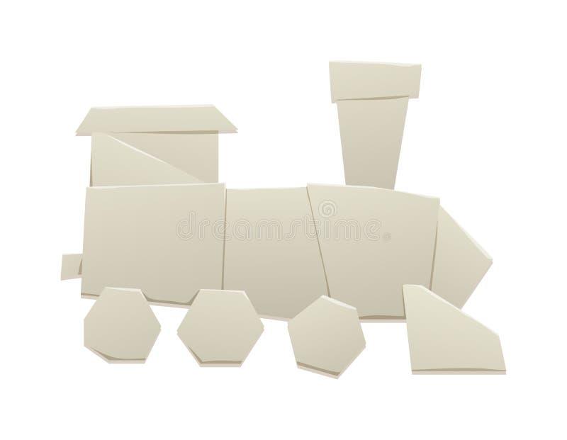Download Origami Train Vector Illustration Stock