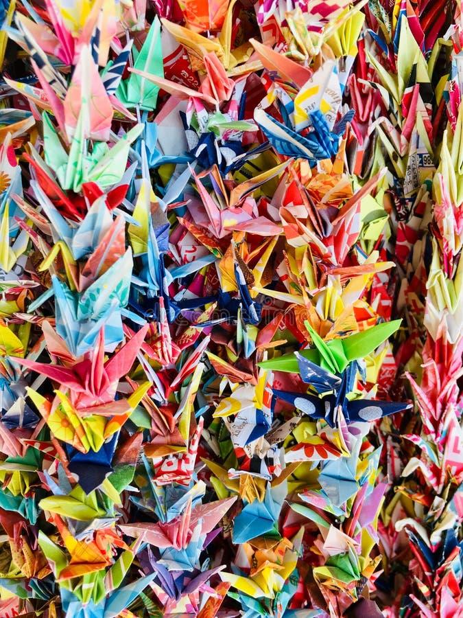 Origami Tsuru fotografia stock