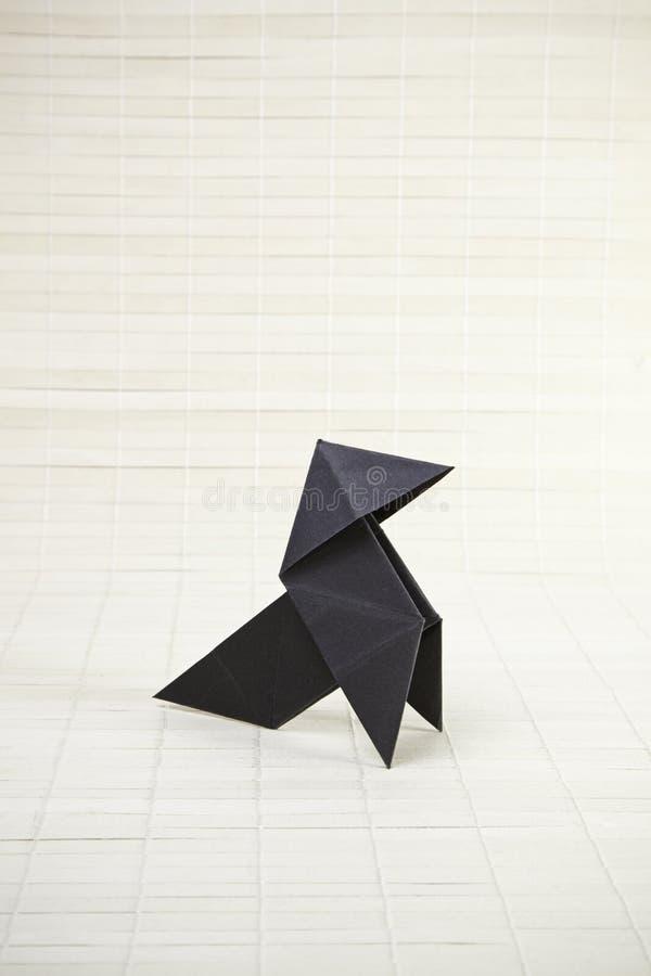 Origami und Bambus stockbild