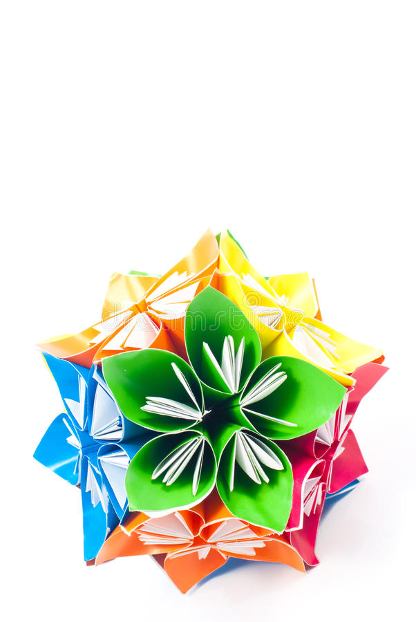 Download Origami unit flowers stock image. Image of figure, paper - 22373693