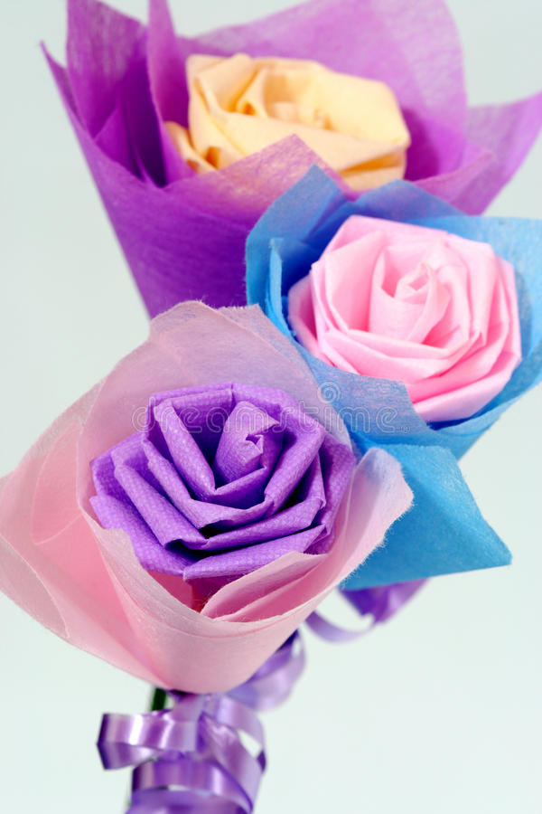 Origami van bloemen royalty-vrije stock foto's