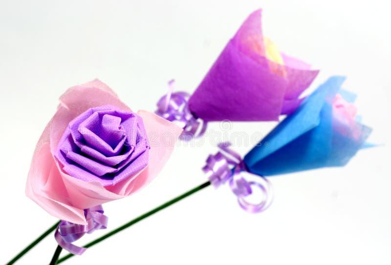 Origami van bloemen stock afbeelding