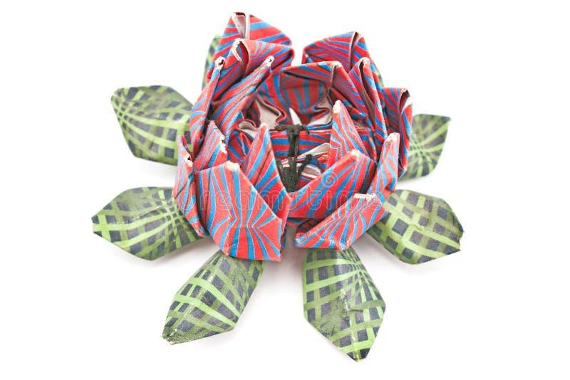 Origami variopinti del loto fotografia stock