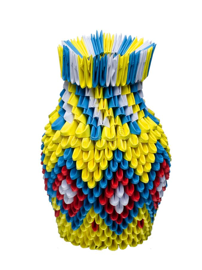 3D Origami Vase by OneLoneTree on DeviantArt | 900x675