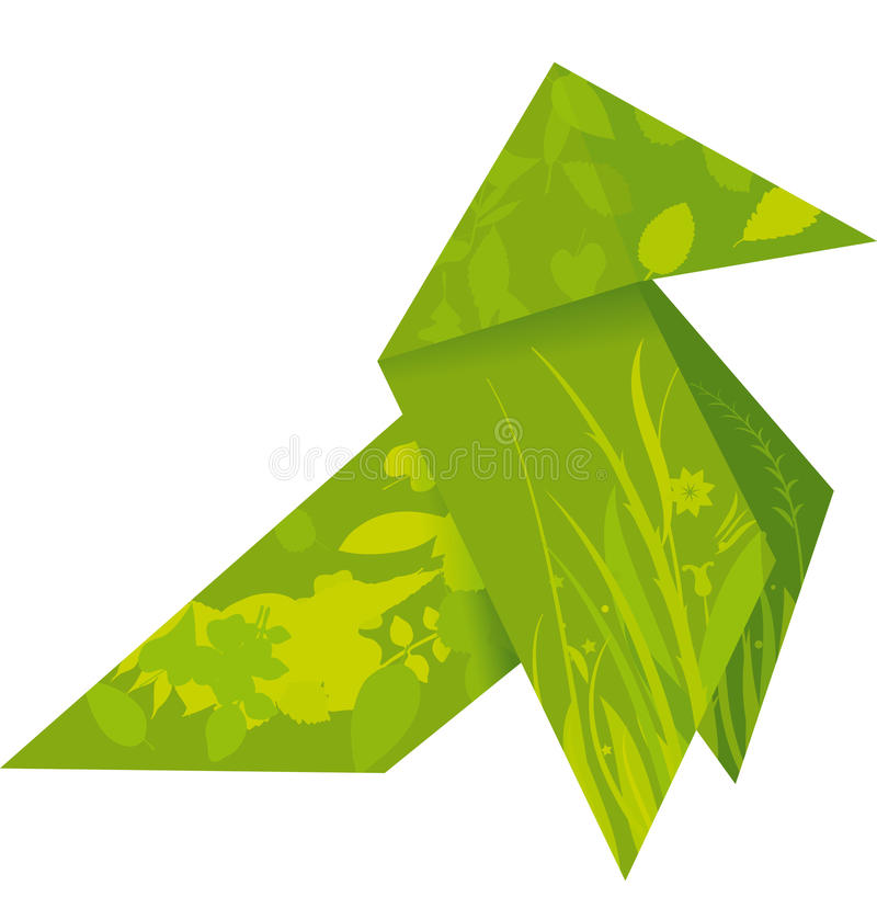Origami Vogel vektor abbildung