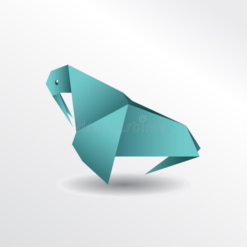 Origami walrus royalty free illustration