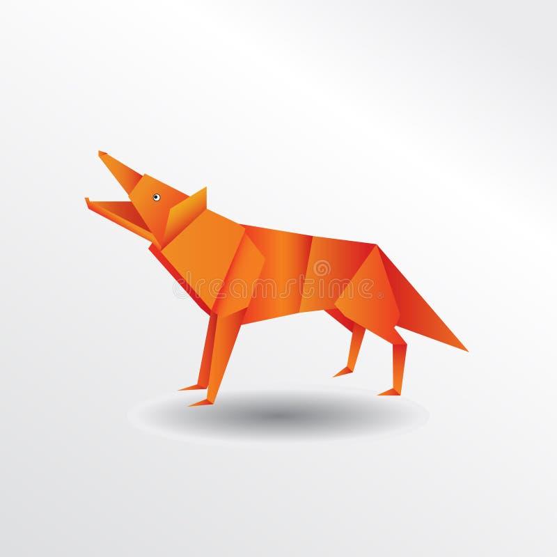 Origami wolf royalty free illustration