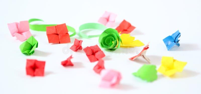 Origamibloemen royalty-vrije stock afbeeldingen