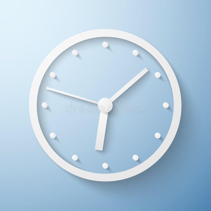 Origamidocument de tijd van de muurklok vector illustratie