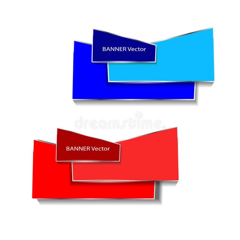 Origamidocument infographic kleurrijke geplaatste banners Annotatielint De vorm van het reclameontwerp Vector stock foto's
