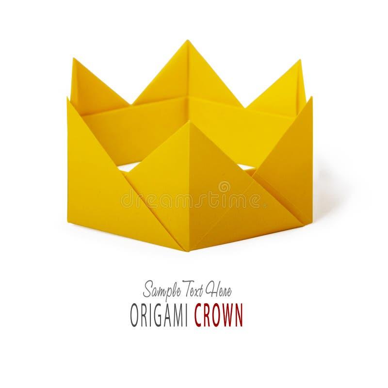 Origamidocument kroon stock foto's