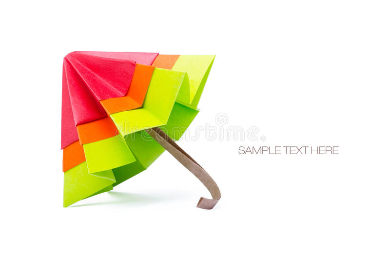 Origamidocument paraplu stock foto's
