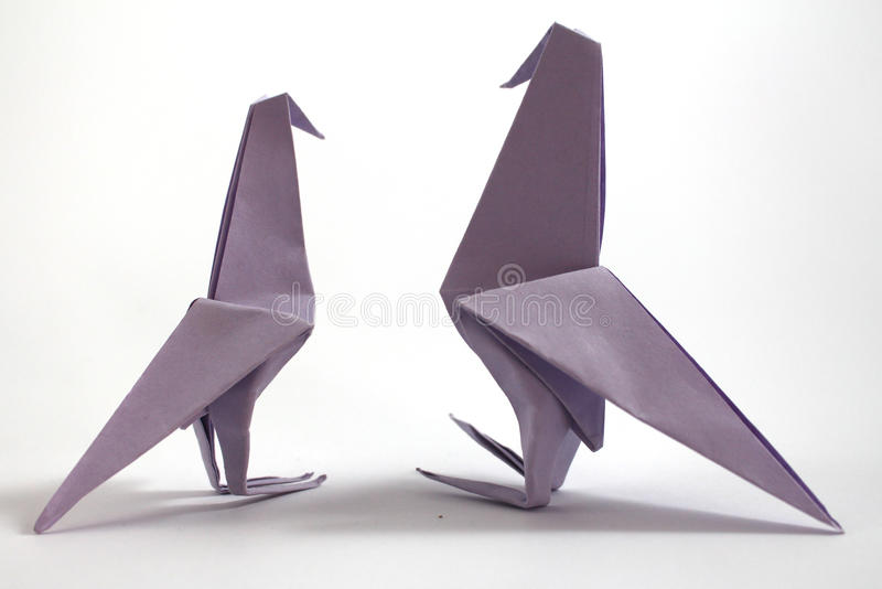 Origamifågel royaltyfria bilder