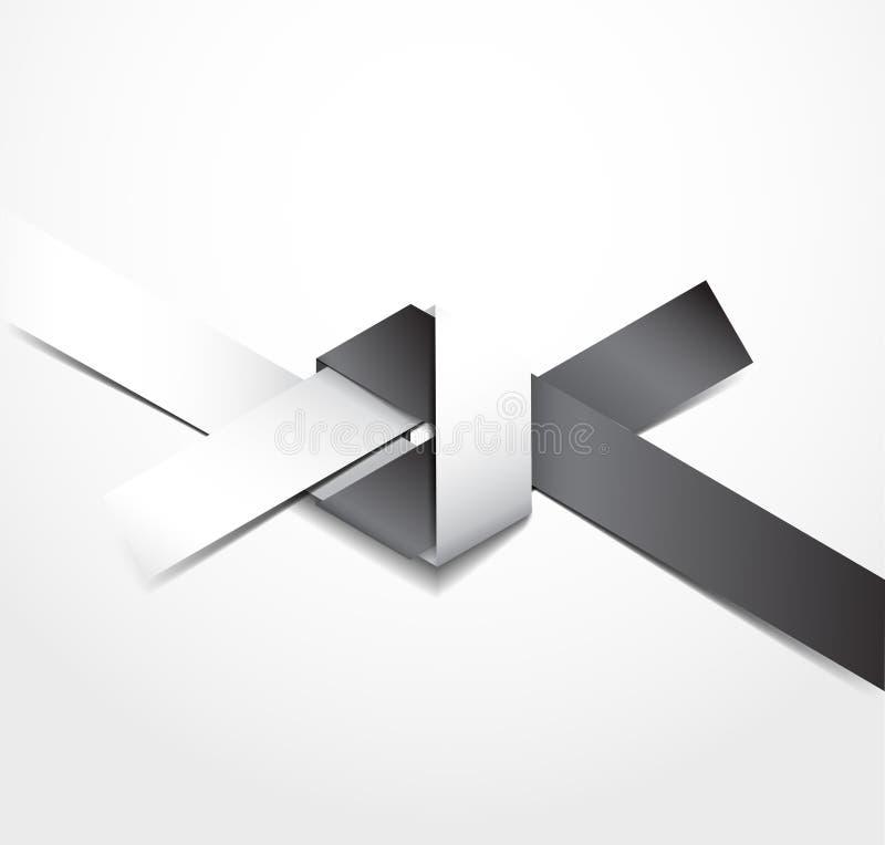 Origamiknoop vector illustratie