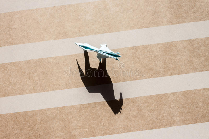 Origamipaard op document gebieds hoogste mening royalty-vrije stock fotografie