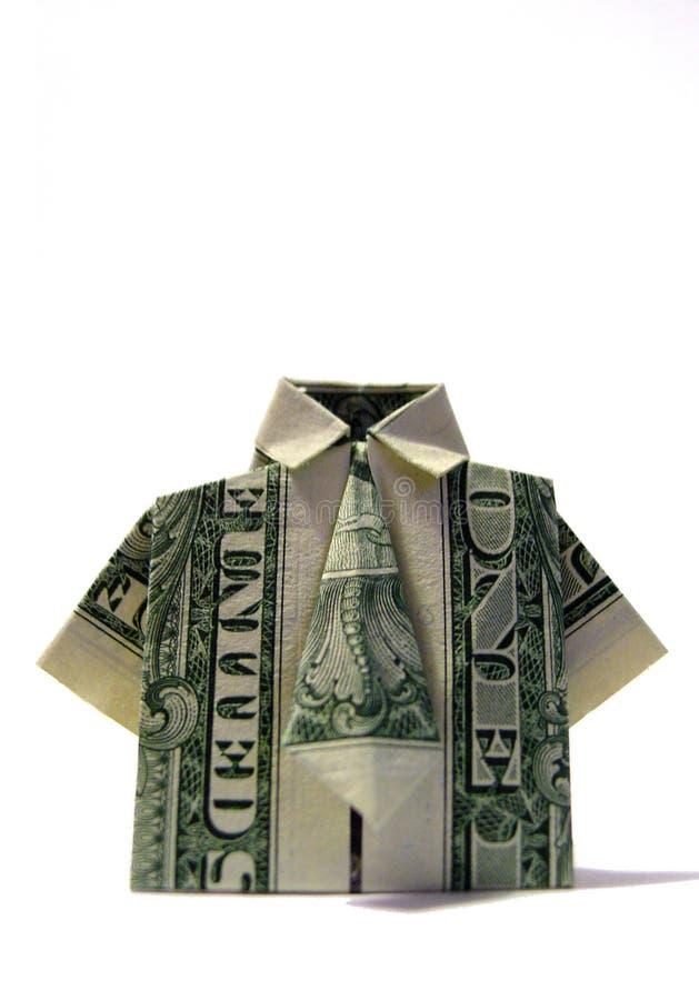 origamiskjortatie arkivbilder