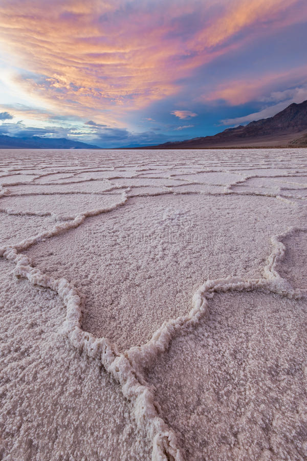 Origem, Badwater, Death Valley NP fotos de stock