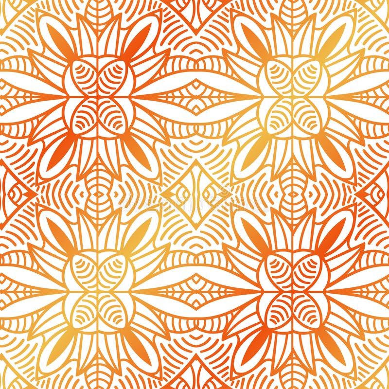Origen étnico ornamental decorativo tribal del extracto ilustración del vector