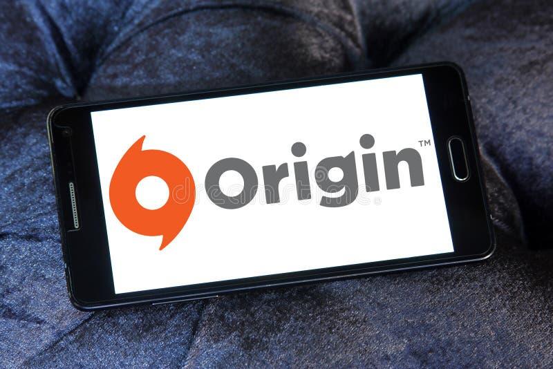 Origin digital distribution software logo. Logo of Origin digital distribution software on samsung mobile. Origin is an online gaming, digital distribution and royalty free stock image