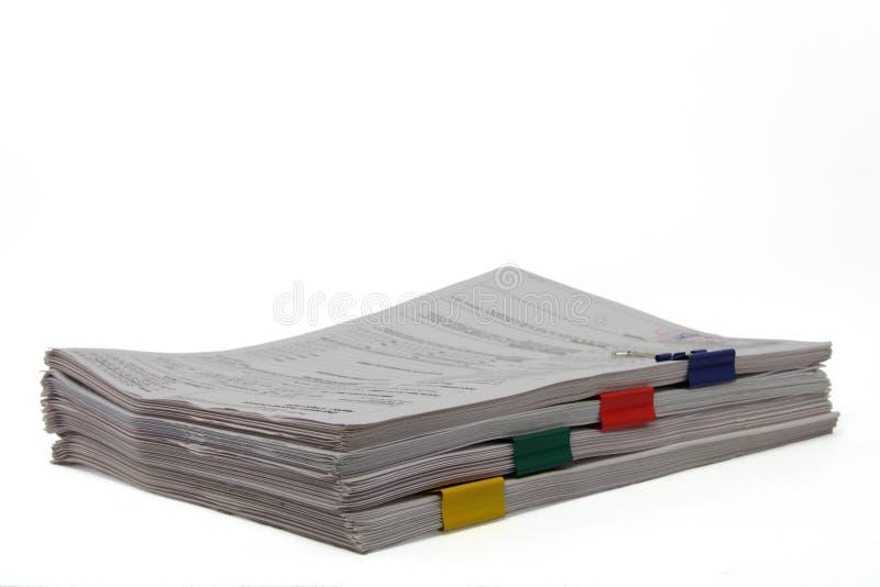 Originais com paperclips imagem de stock royalty free