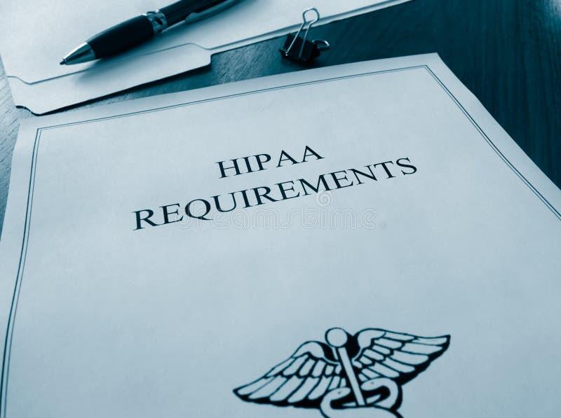 Originais das exigências de HIPAA fotos de stock