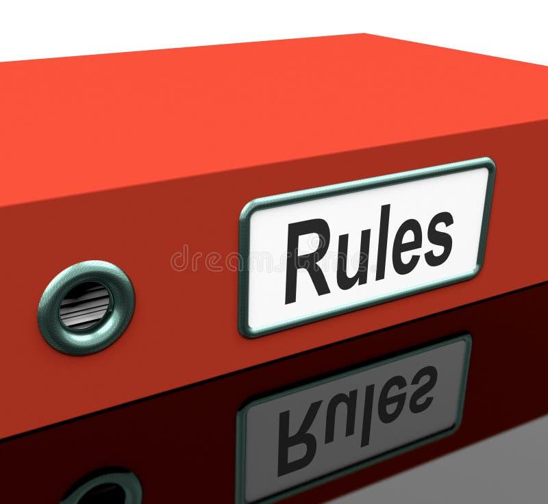 Originais do guia do arquivo ou da política das réguas ilustração royalty free