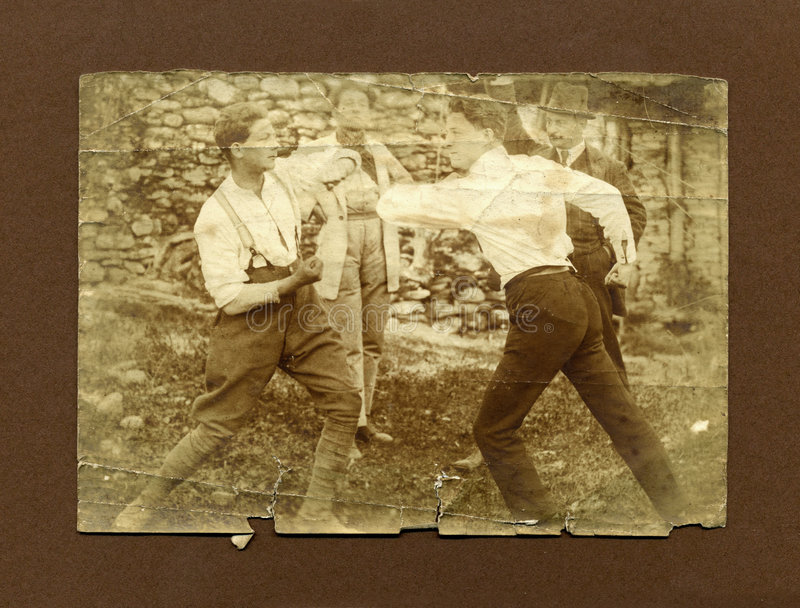 Download Original 1920 Antique Photo-men Fighting Stock Photo - Image: 1524648