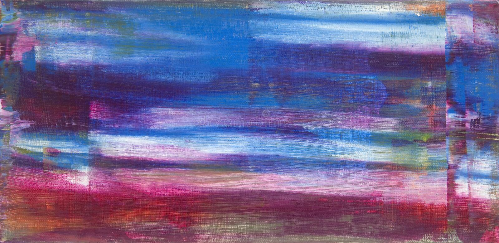 Original Abstract Acrylic Painting on Canvas royalty free illustration