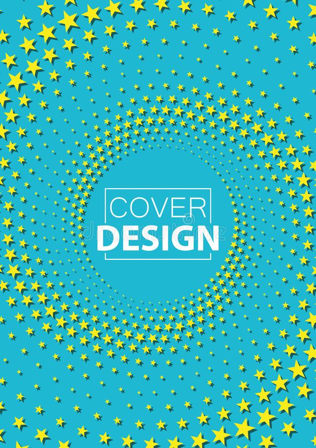 Original abstract cover with a half-tone of stars with a place to insert a logo or text vector illustration