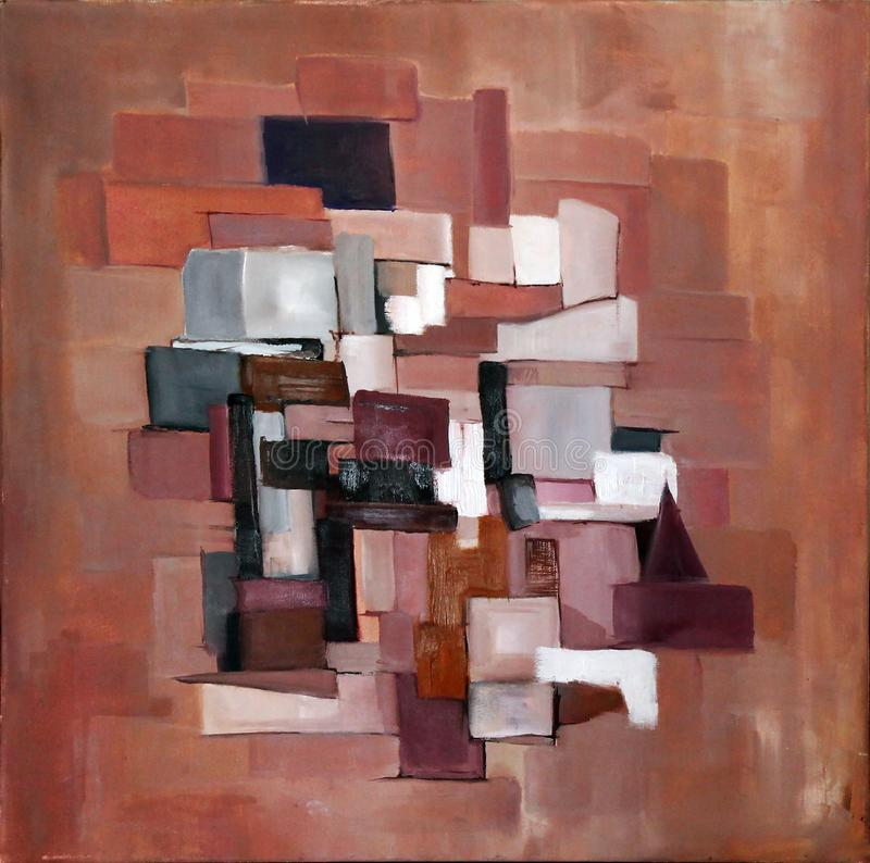 Original abstract oil painting background stock photos