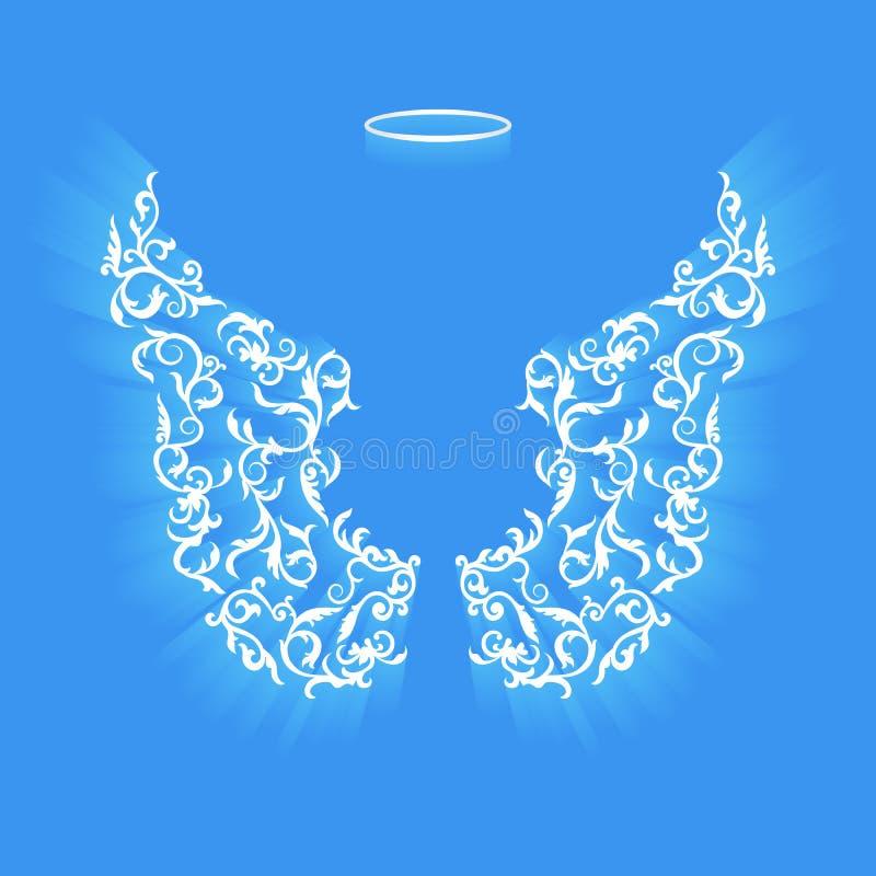 Original angel wings. royalty free stock images
