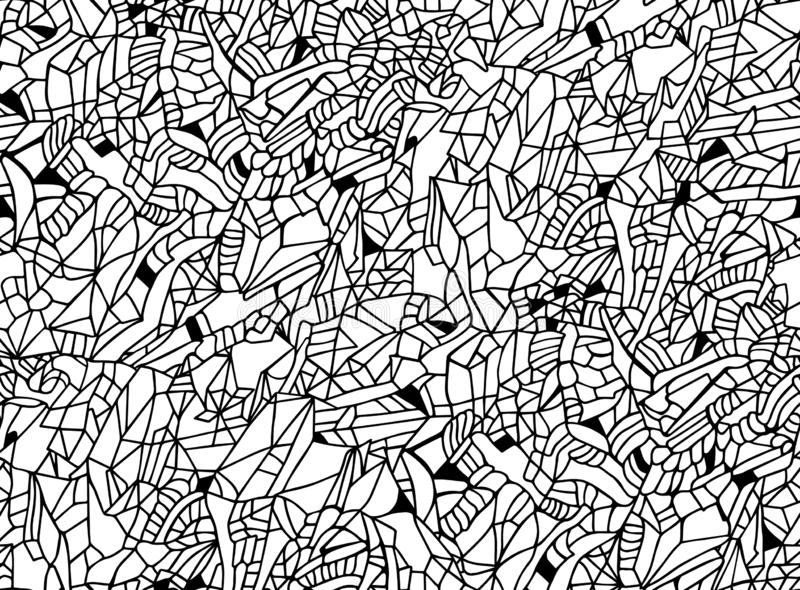 Original black and white hand drawn vector seamless pattern. EPS 8. Original black and white hand drawn seamless vector pattern. EPS 8 royalty free illustration