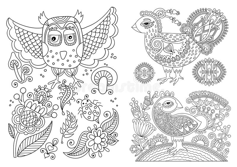 Line Art Joy : Original black and white line drawing page of coloring