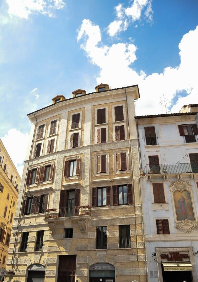 Original block of flats in Rome royalty free stock images