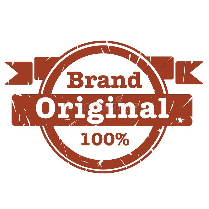 Original brand sticker for increase sales royalty free illustration