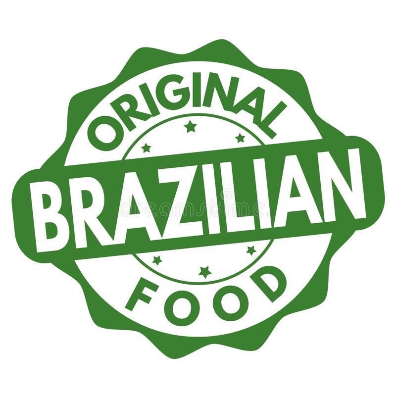 Original brazilian food sign or stamp vector illustration