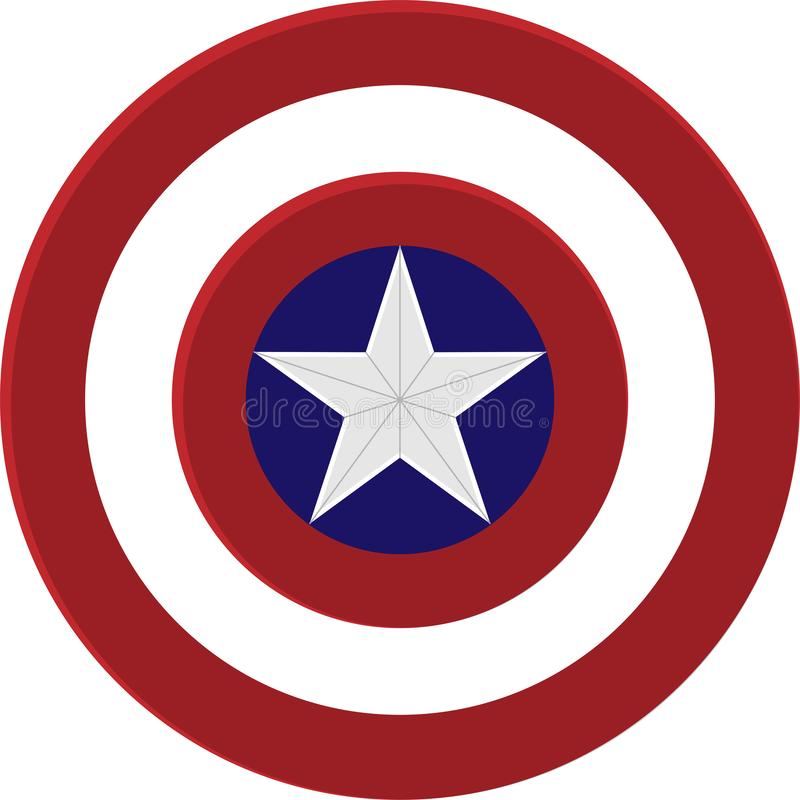 Captain America Shield. The Original Captain America shield illustration Vector royalty free illustration