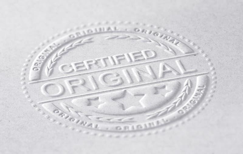 Original certifié illustration de vecteur